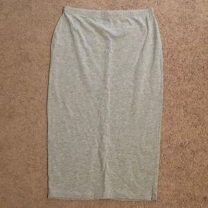 ASOS grey jersey pencil skirt size 8